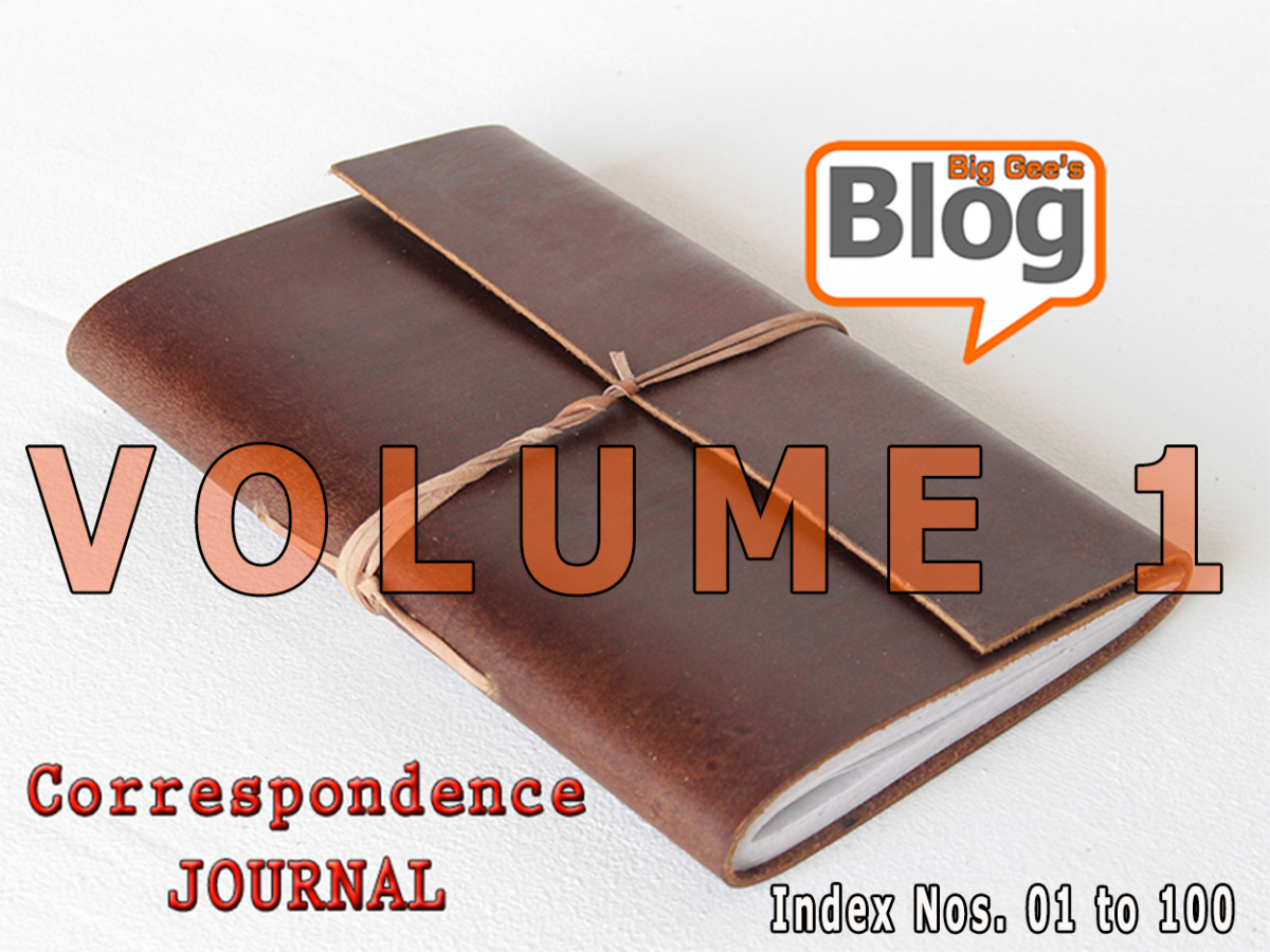 A Running Journal of Written Correspondence