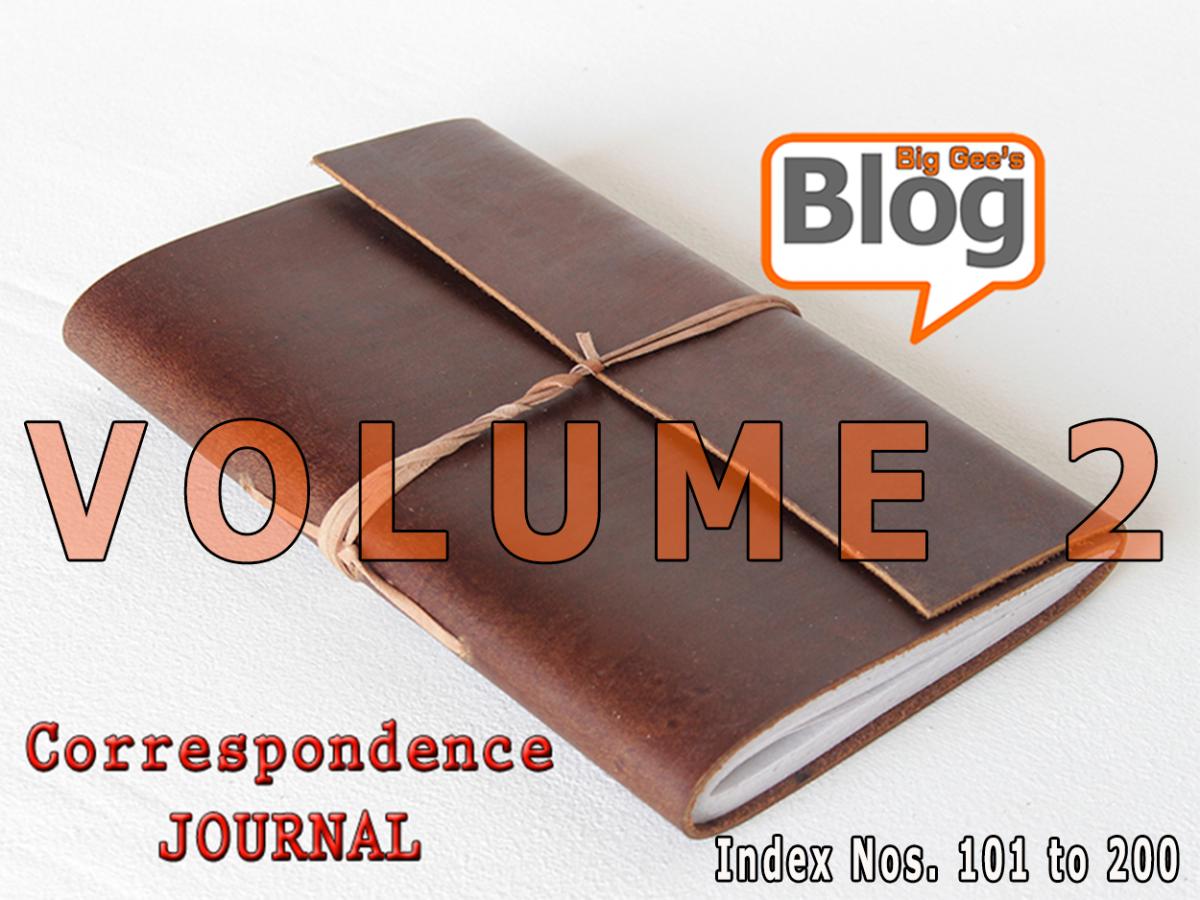 A Running Journal of Written Correspondence [Volume 2]